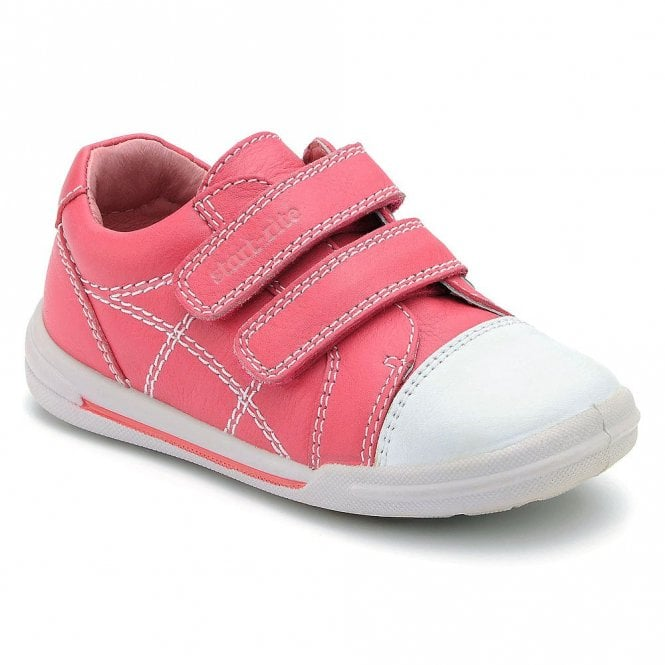 Flexy Soft Milan Pink Leather Girl S Velcro Shoe