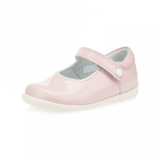 36701336f6ee5 Nancy Pale Pink Patent Girl's First Walking Shoe