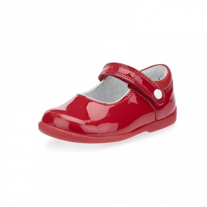 7ea40f40dadaf Nancy Red Patent Girl's First Walking Shoe