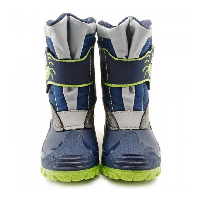 Boys Startrite Snow Boots In Navy /'Spider Snow/'