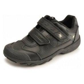 d3df20026 Aqua Trek Navy Leather Waterproof Velcro Boys Boot