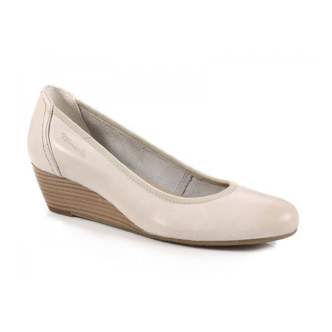 19cdde01025 Tamaris 22320-20 Off White Leather Wedge Shoe - Ladies from Crichton ...