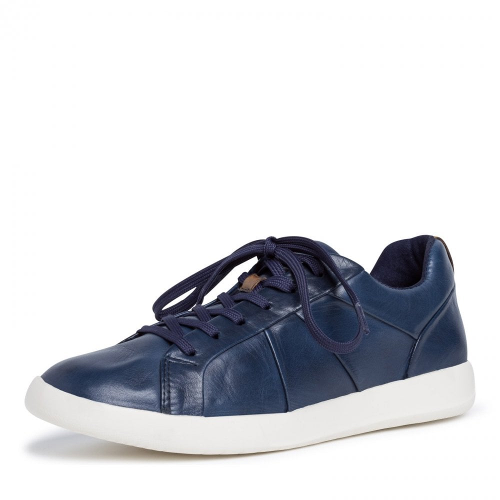 23613-24 Navy Blue Casual Lace Up Shoe