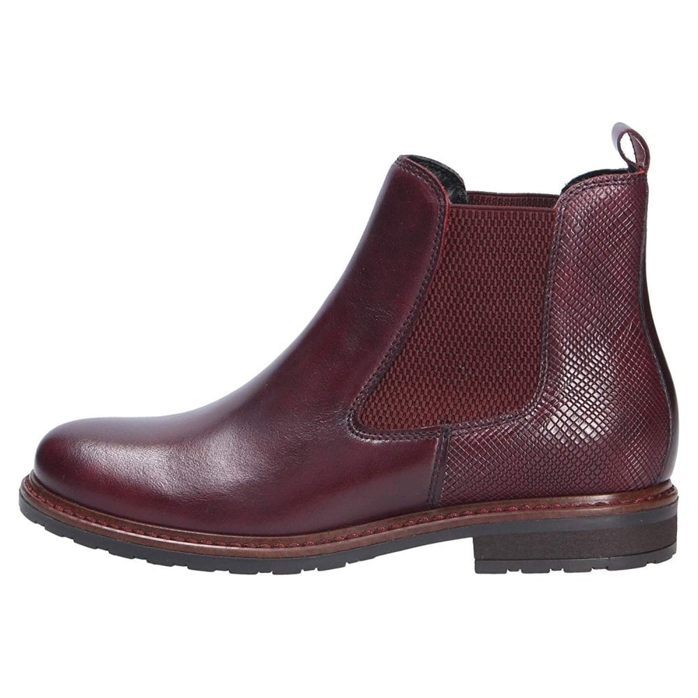Tamaris 25056 23 Bordeaux Leather Ankle Boot