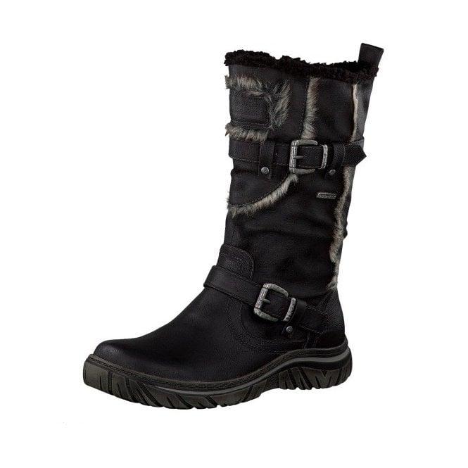 Tamaris 26418-29 Black Waterproof Boot