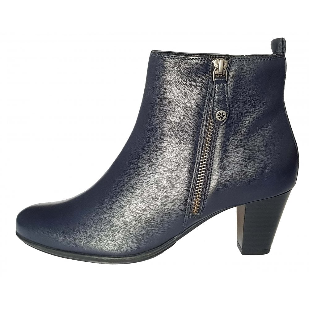 later autumn shoes affordable price Ashley II Midnight Navy Leather Ladies Ankle Boot