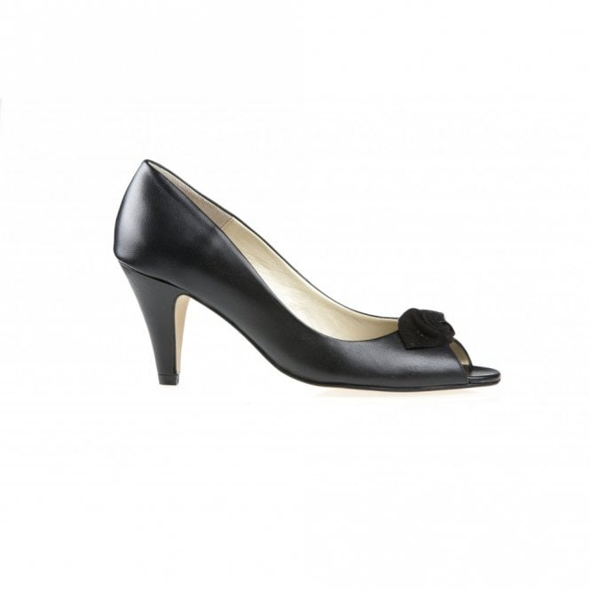 6cfd856c384cd Van Dal Greenwich Black Leather Peep Toe Shoe - Ladies from Crichton ...