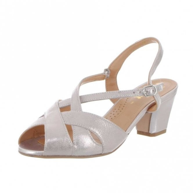 2f6b246755 Libby II Bamboo Metallic Leather Sandal
