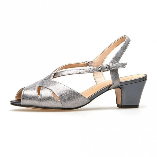 0ba36185b3 Libby II Mercury Metallic   Anthricite Leather Sandal