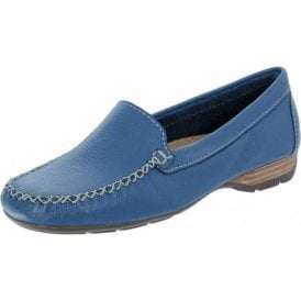 ea83cdd4b7b12 Sanson Denim Blue Leather Loafer Moccasin Shoe · Van Dal ...