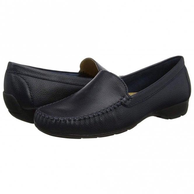 1239966dba Sanson Navy Leather Loafer Moccasin Shoe