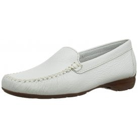 f8cba8f549907 Sanson White Leather Loafer Moccasin Shoe. Van Dal ...