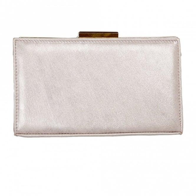 9fd4e60f5504 Zinnia Bamboo Metallic Leather Handbag
