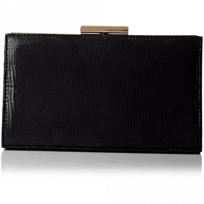 b0417928c929 Zinnia Black Reptile Leather Handbag