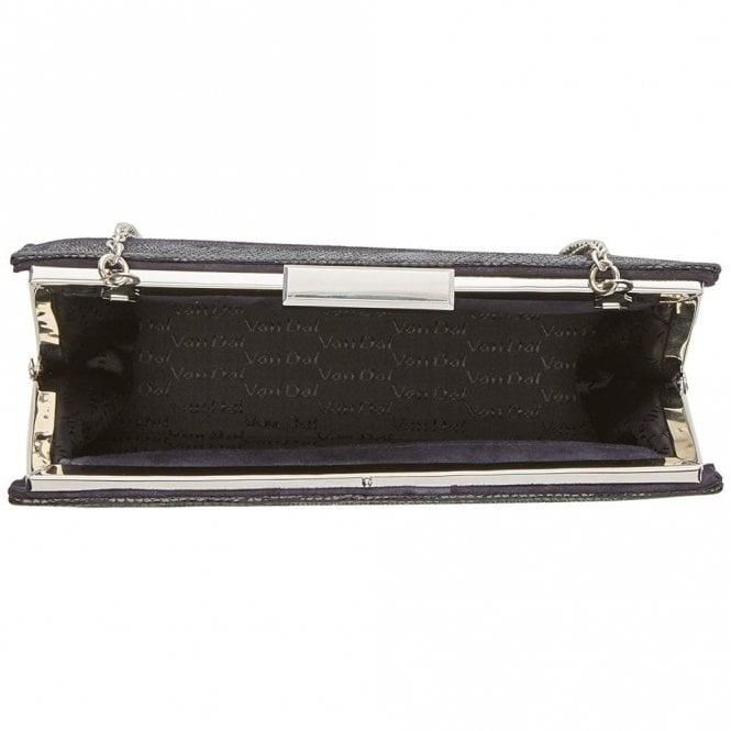 1c37a8f4832d Zinnia Midnight Navy Reptile Print Leather Handbag