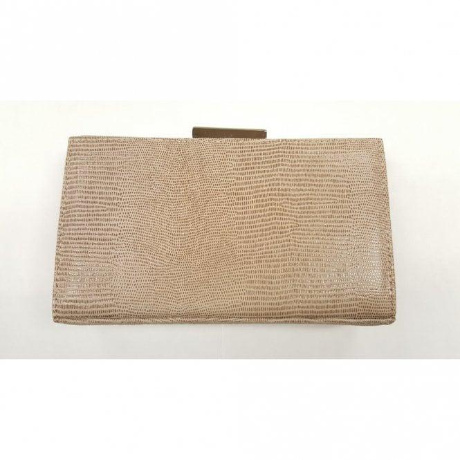 76ee7440d37f Zinnia Nougat Lizard Suede Handbag